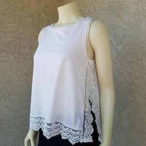 Pull & Bear Lace Trimmed Tank Top